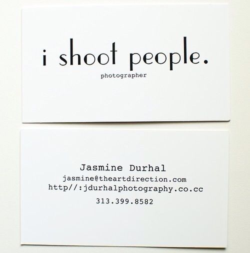 ambiguous word meaning wonderful and simple business card