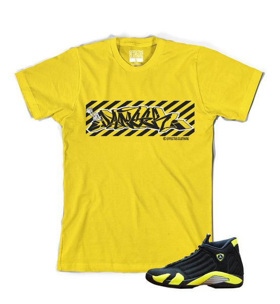 65c6aa096d6cb3 Shirt to match Thunder 14 Jordans. Danger Tee