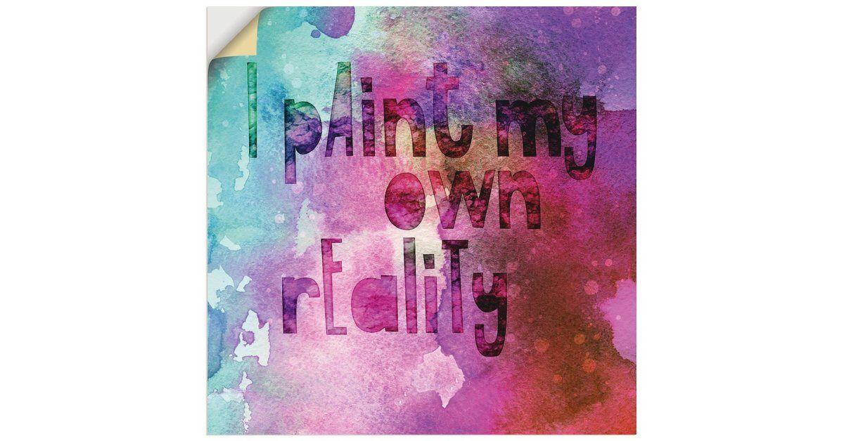 Artland Wandfolie »Andrea Haase: Ich male mir meine eigene Realität« online kaufen | OTTO #wallphone