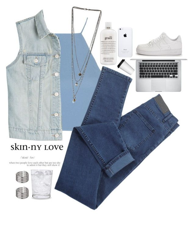 """""""#134"""" by lethiciavicky ❤ liked on Polyvore featuring Topshop, J Brand, Miss Selfridge, Schott Zwiesel, philosophy, Apple, NIKE and Sagaform"""