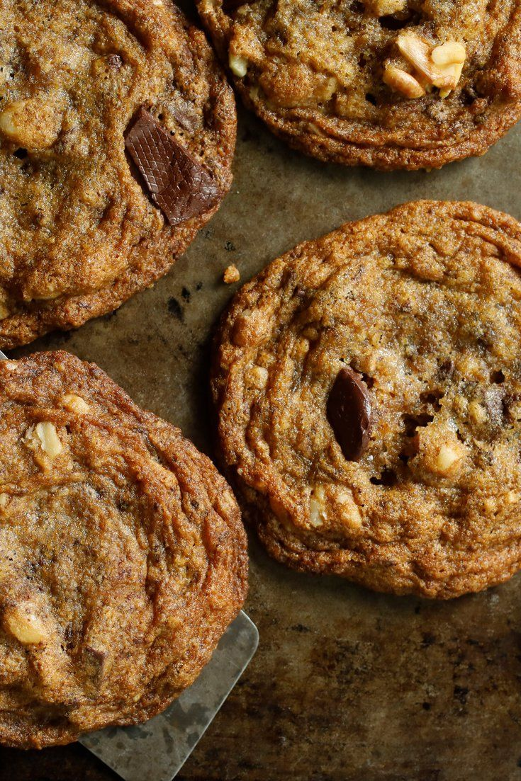 Flat Chewy Chocolate Chip Cookies Recipe