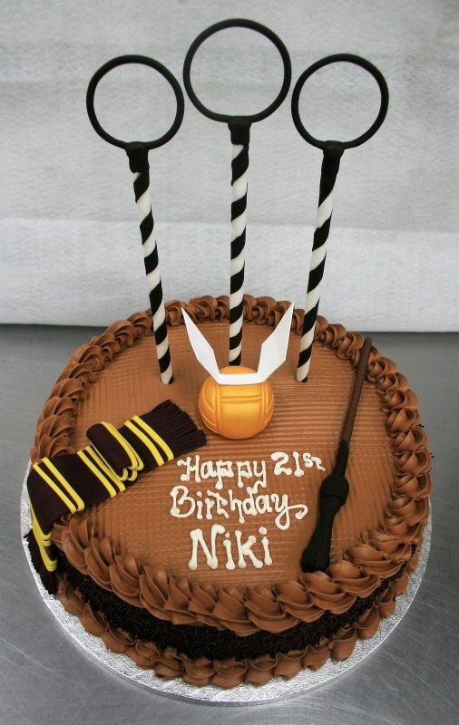 A Harry Potter quidditch pitch birthday cake Harry potter