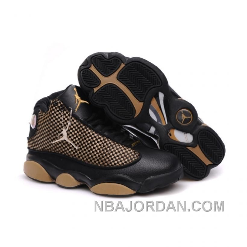 1ba81cb31ae048 Air Jordan Retro 13s Shoes Black Gold in 2018