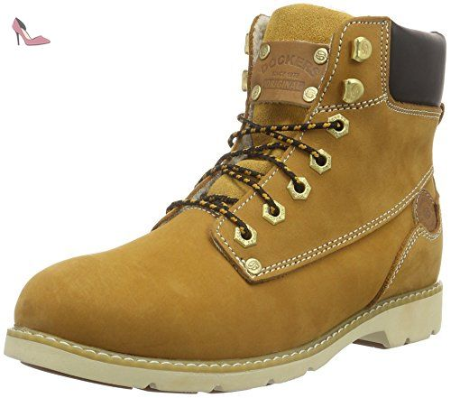 310712, Boots femme - Jaune (Golden Tan 093), 38 EUDockers by Gerli