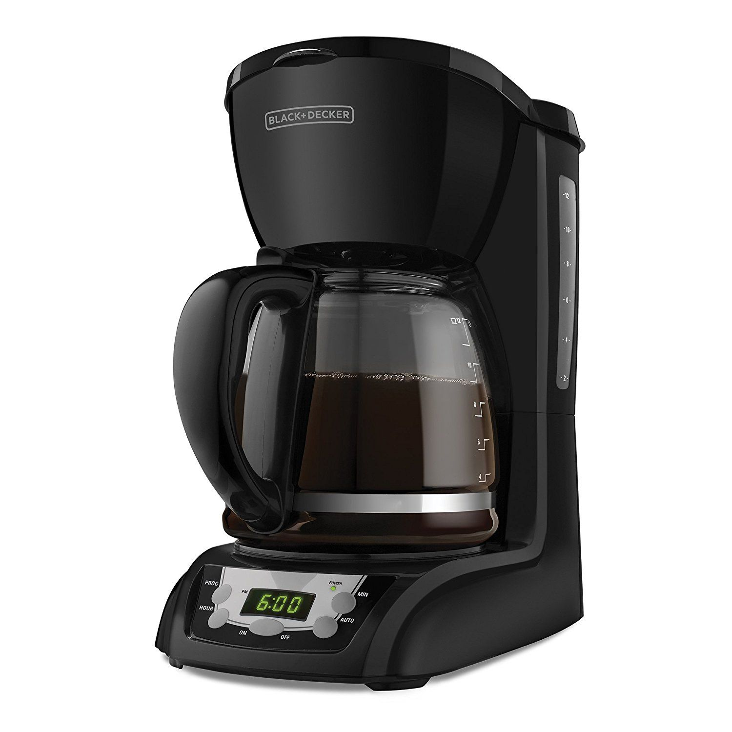 Black decker dlxb cup programmable coffeemaker with glass