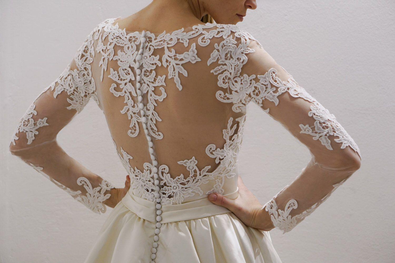Wedding dress nicol satin skirt wedding dress atlas skirt wedding