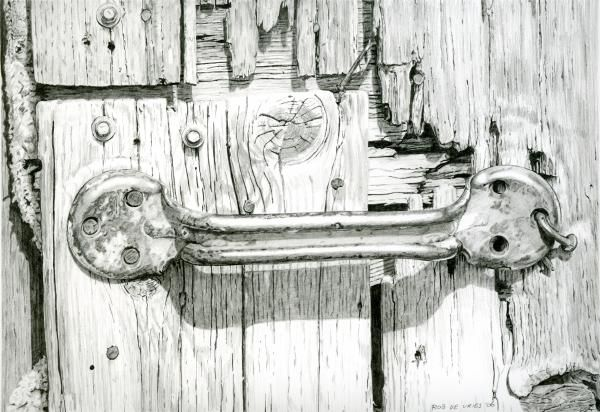 Barn Door Greeting Card For Sale By Rob De Vries Pencil