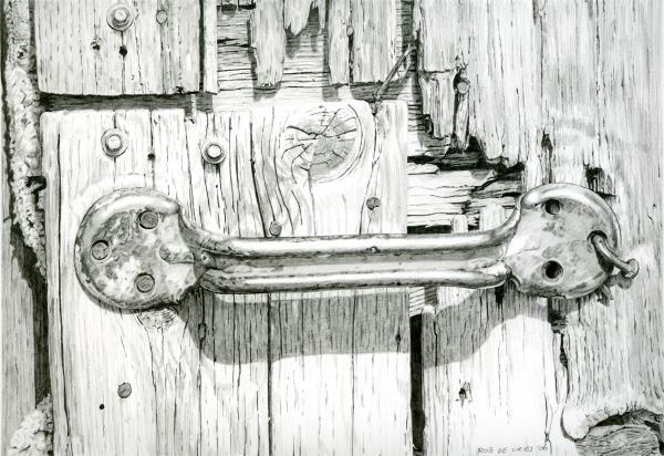 Barn Door Greeting Card By Rob De Vries Barn Drawing Drawings 3d Drawings