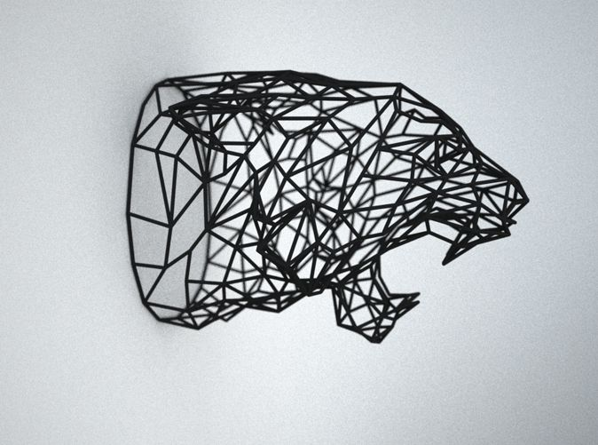 Wired Life 3D Printed Tiger Trophy Head Medium | Tigers, Wireframe ...