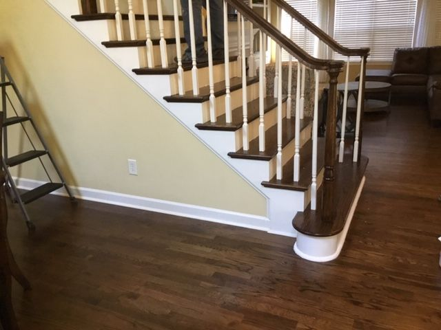Best Hardwood Floor And Matching Stair Tread Installation By 400 x 300