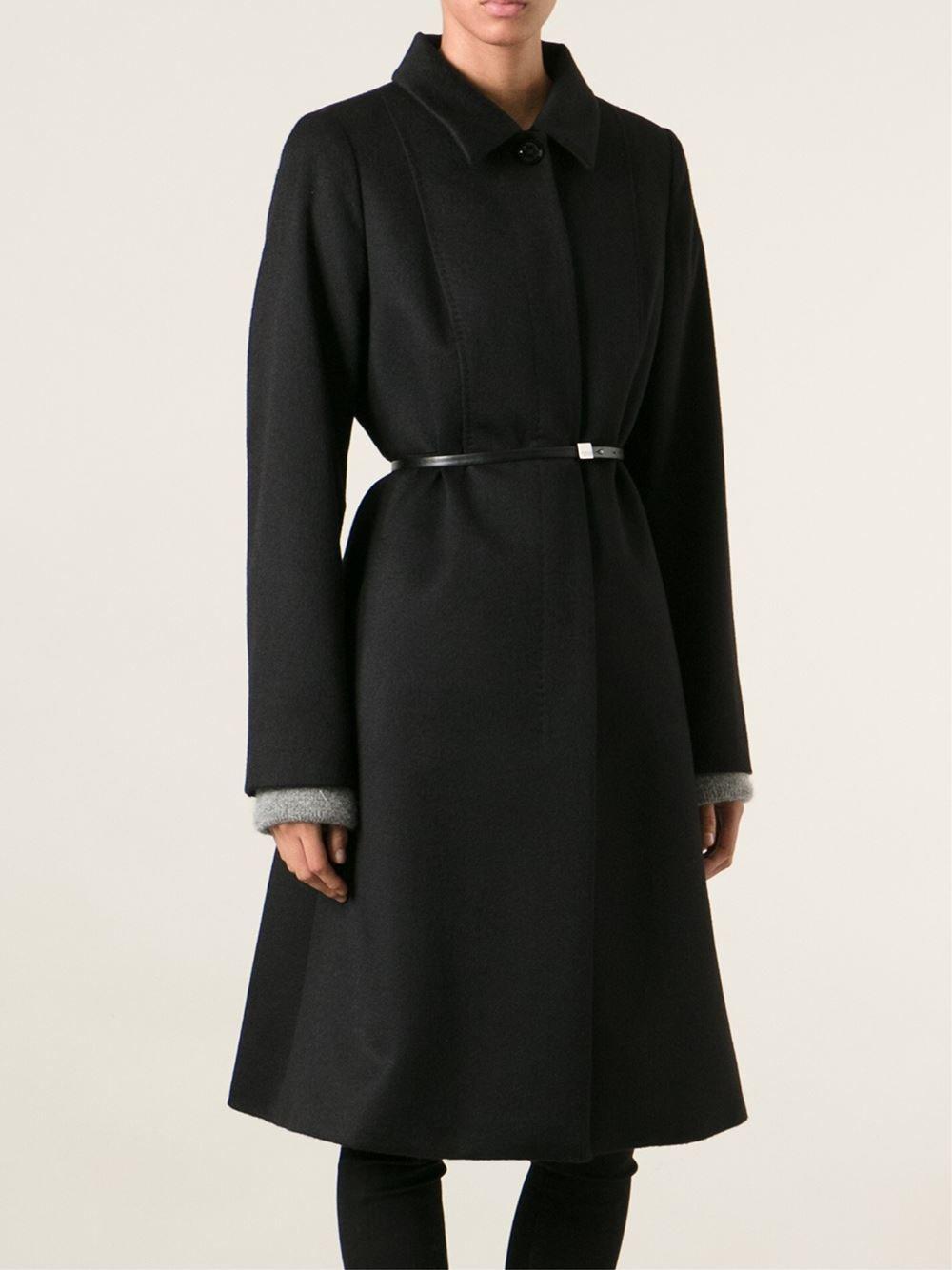 8a43bbc2d412 Max Mara Belted Flared Coat - Divo - Farfetch.com | coats | Fashion ...