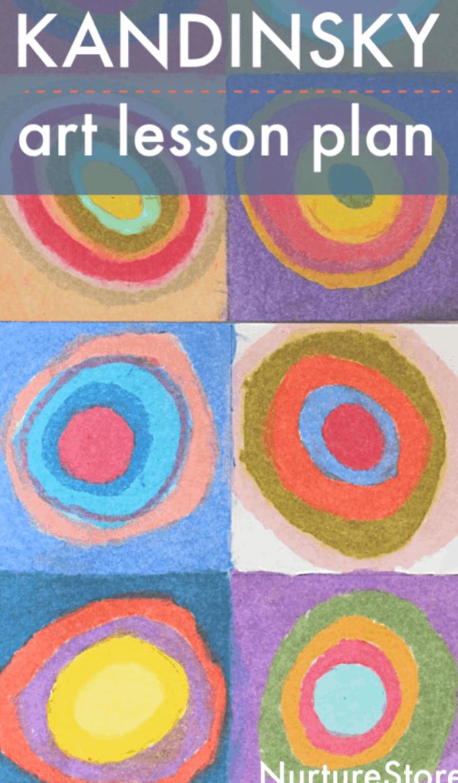 Kandinsky Circles Art Lesson Plan For Children Famous Art Lesson For Children Kandinsky Art Project Fo Circle Art Projects Kandinsky Art Art Lessons For Kids