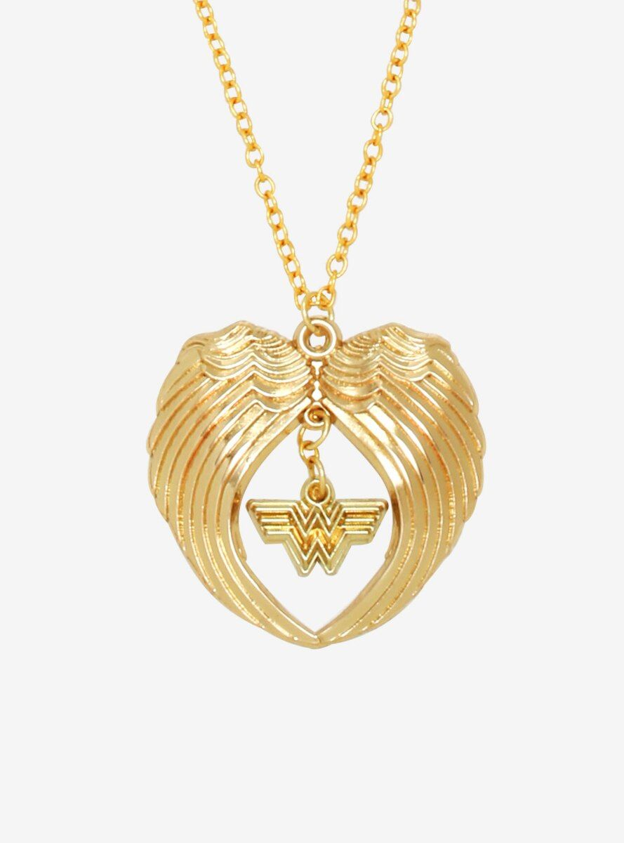 Photo of DC Comics Wonder Woman 1984 Gold Armor Wings Necklace