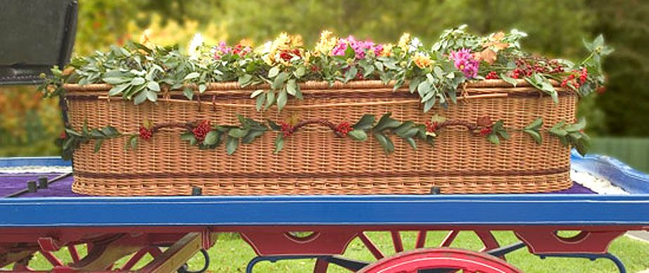 Woven Basket Casket : Wicker coffins are biodegradable handmade and beautiful