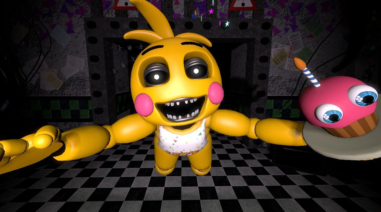 Toy Chica jumpscare fnaf 2 | My Sfms!!! | Five nights at