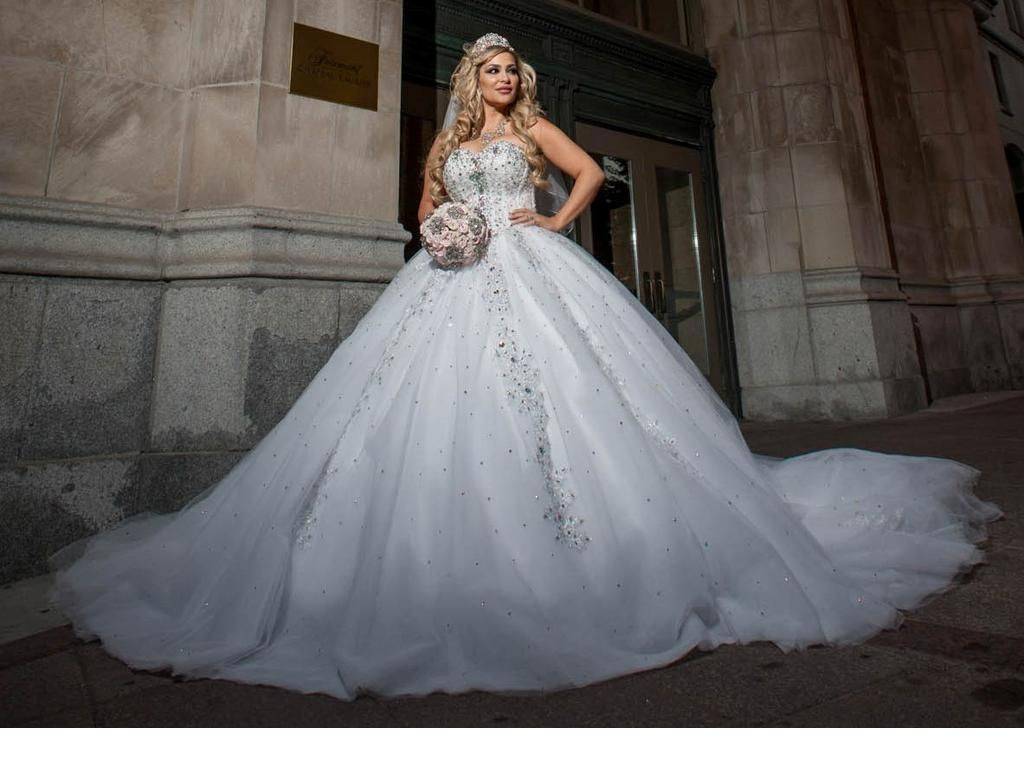 Poofy Princess Wedding Dress