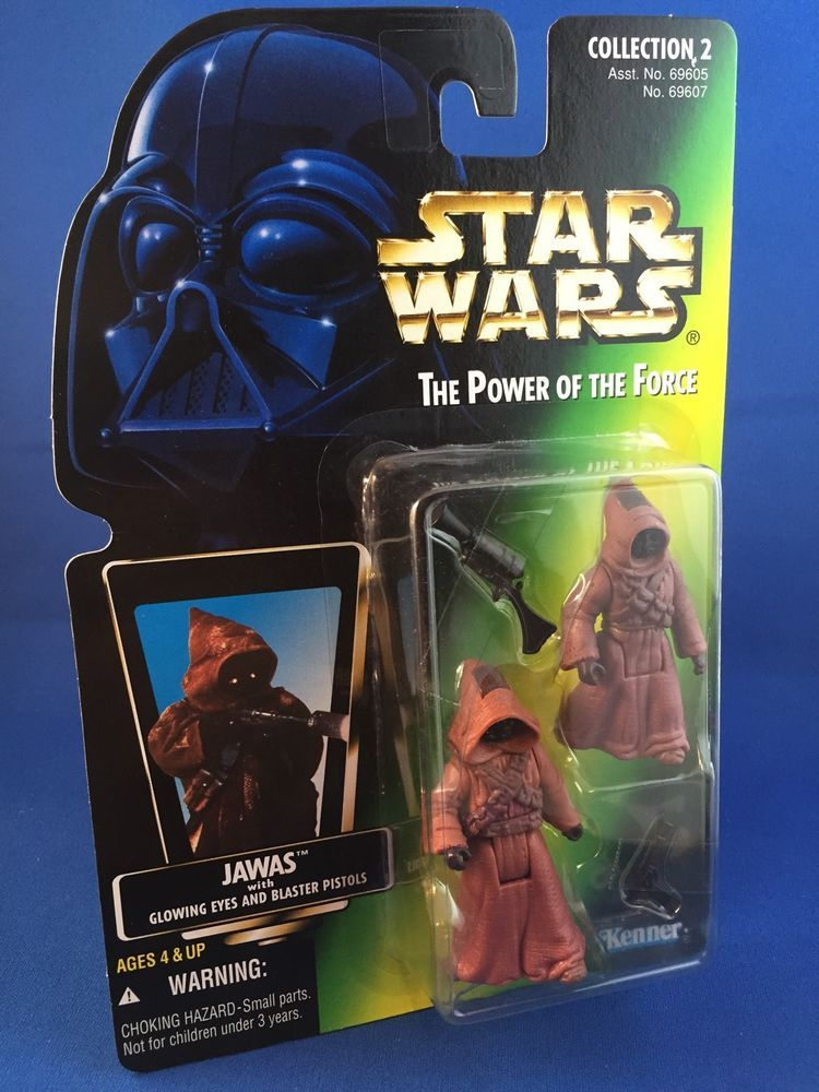 Hasbro star wars power of the force jawas green card s