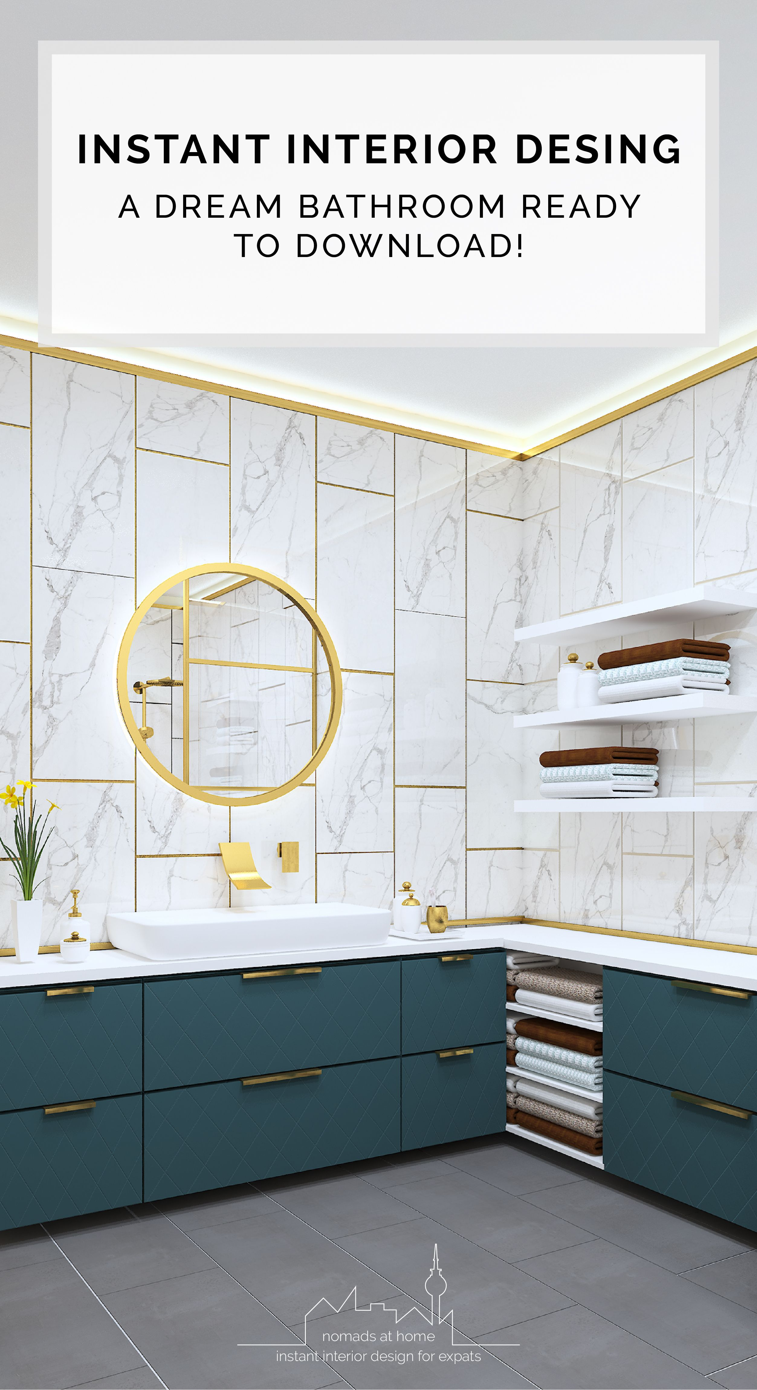Green Rock Bathroom Template It Is Part Of The Instant Designs Ready Made Interior