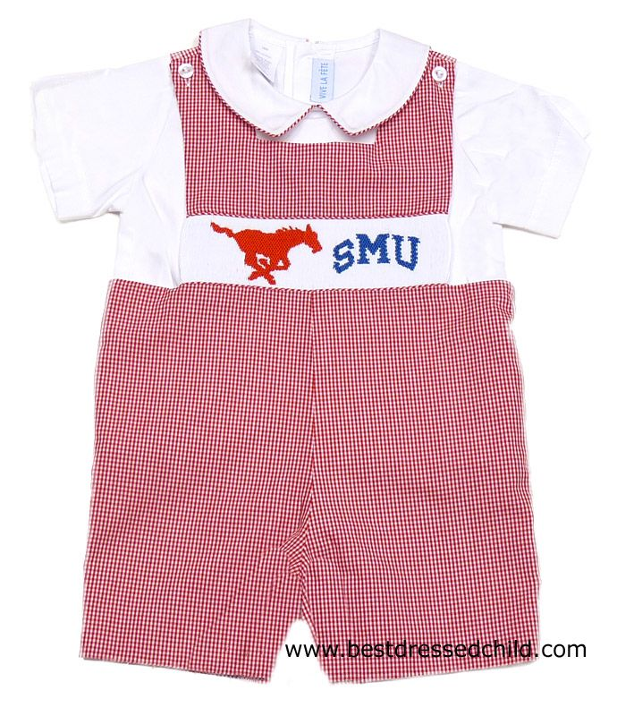 Vive La Fete Collegiate Boys Smocked Red Smu Southern