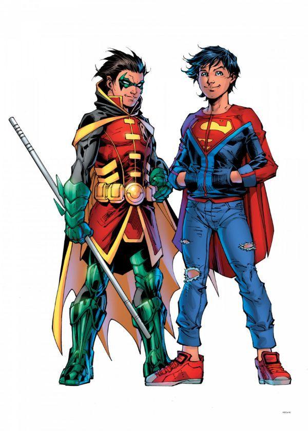 "Official DC Comics Jim Lee Collection Super Sons #Displate artwork by artist ""DC Comics"".… | Displate thumbnail"