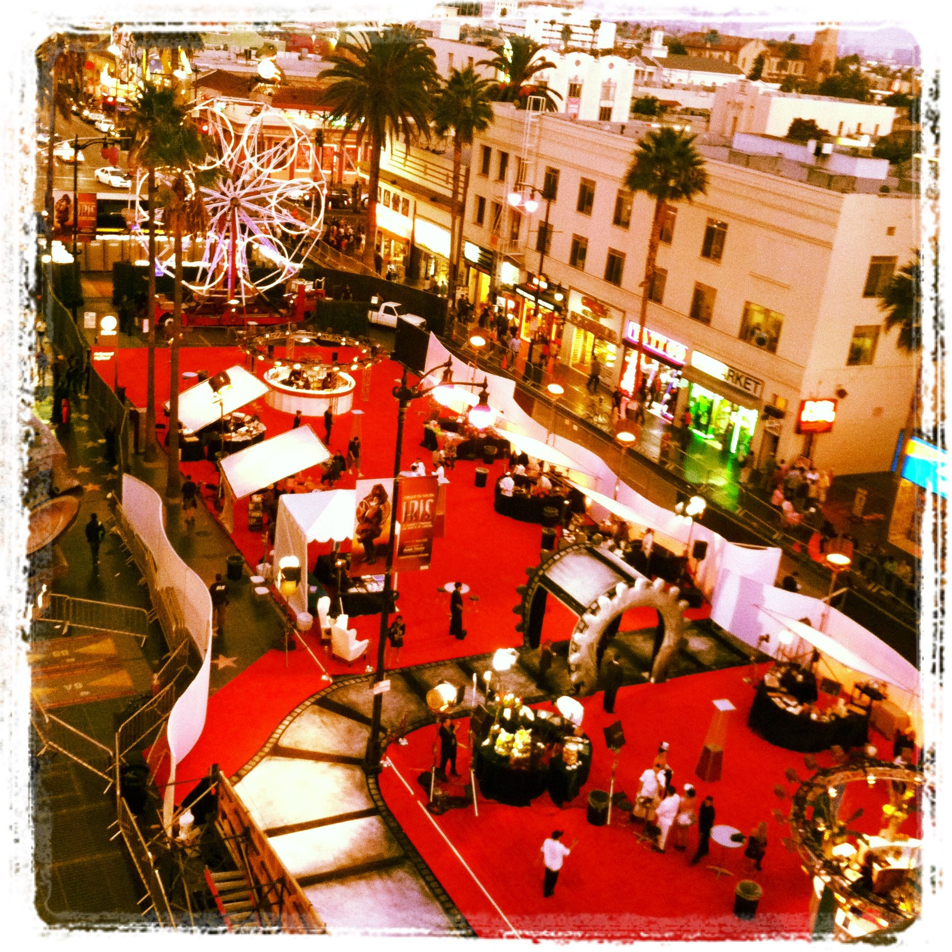 view from the top for the world premiere of Cirque's gala for Iris