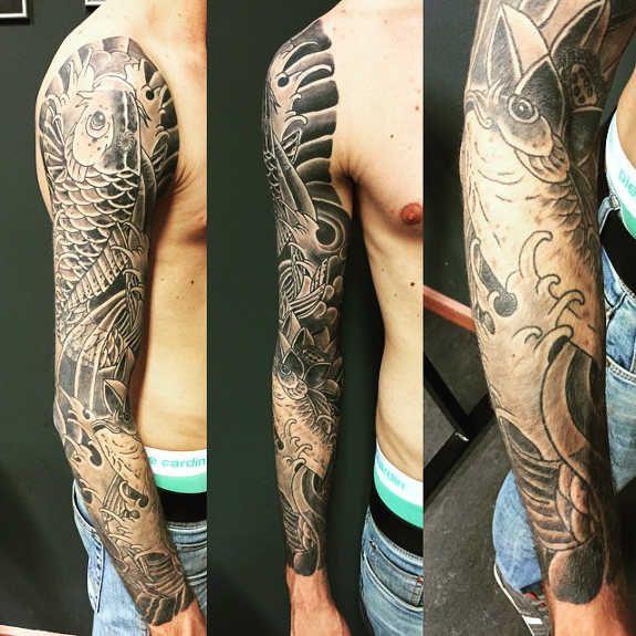 Magnificent Koi Sleeve Tattoos 3 Sleeve Tattoos Tattoos Tattoos For Guys