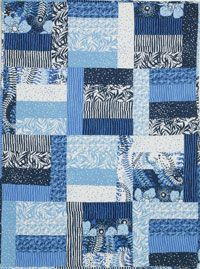 Free Modern Baby Quilt Pattern Blue Is For Boys Quilt