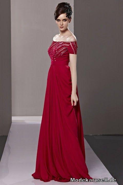 Abendkleid Schulterfrei Lang | Rote Kleider online kaufen | Entdecke ...