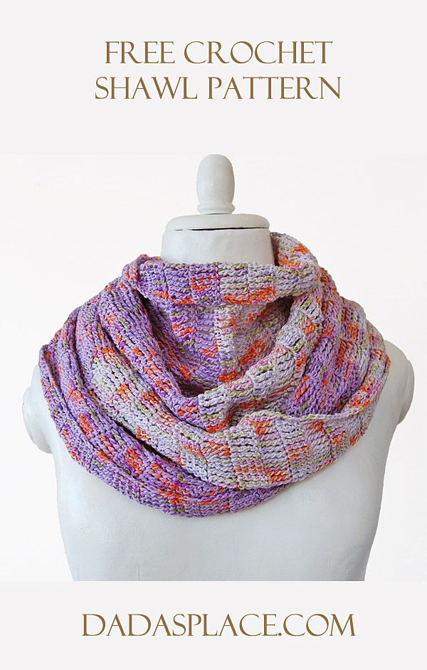 Free Crochet Pattern: Enjoy The Silence Shawl by Dada's place