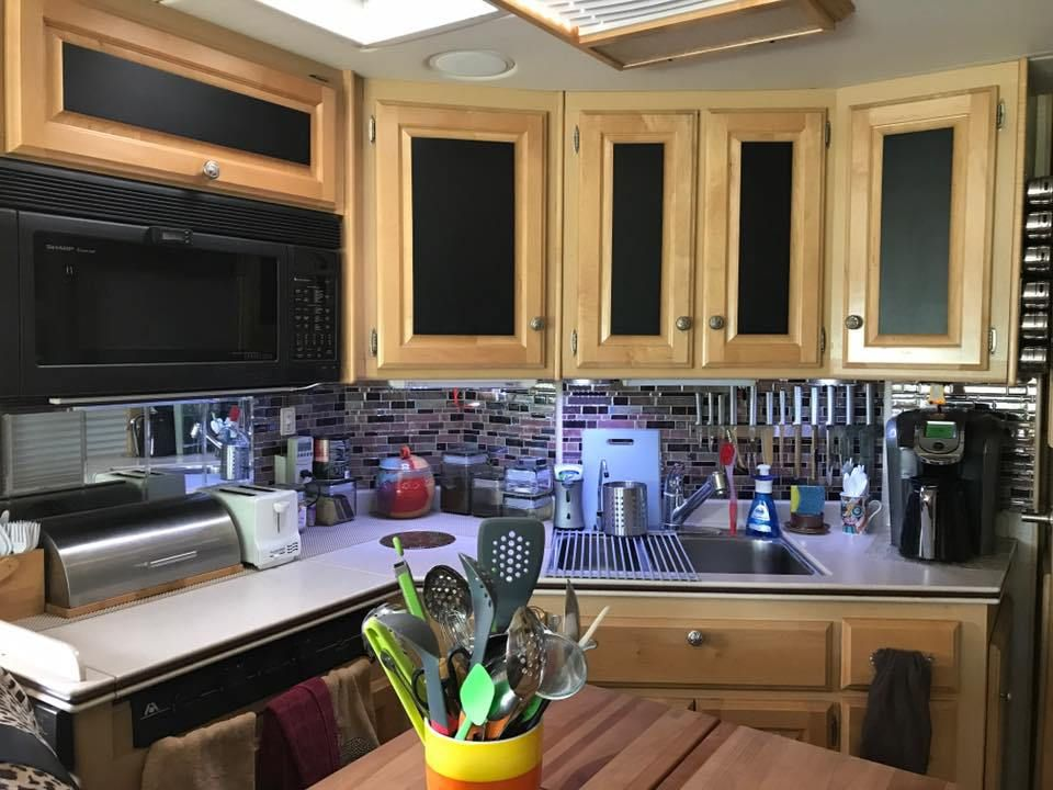 How To Brighten Up A Dark Kitchen Without Painting 7 Ideas For Updating Wood Rv Cabinets Without Painting Them Rv Cabinets Updating Oak Cabinets Update Cabinets