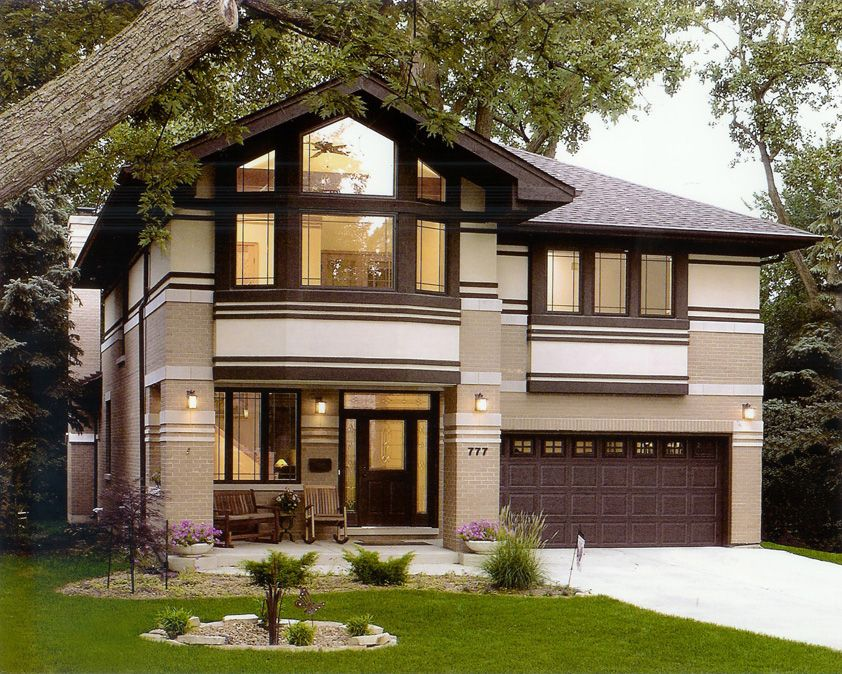 Prairie Style House Frank Lloyd Wright Inspired West Studio Bungalow House Plans Home Building Design House Design Pictures