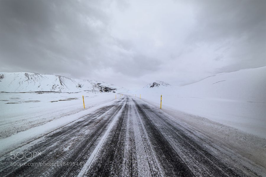 Whiteout iceland road by TonyDudley. Please Like http://fb.me/go4photos and Follow @go4fotos Thank You. :-)