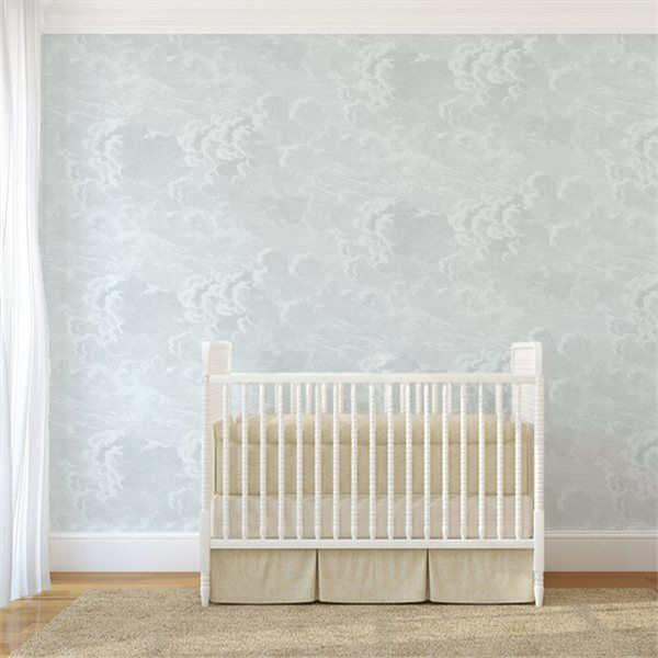 Cole & Son Fornasetti Nuvolette Clouds wallpaper blue nursery