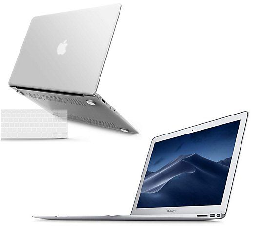 """Apple MacBook Air 13"""" with Tech Support, Clip Case and Keyboard Cover - QVC.com"""