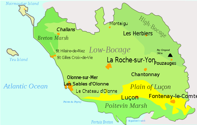 Map Of France Vendee.Ancestors Are From This Area Vendee France Previously Know As