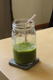 Amy's Kitchen Creations: My version of a Green Monster Smoothie!!  @Colette Butterfield Miller