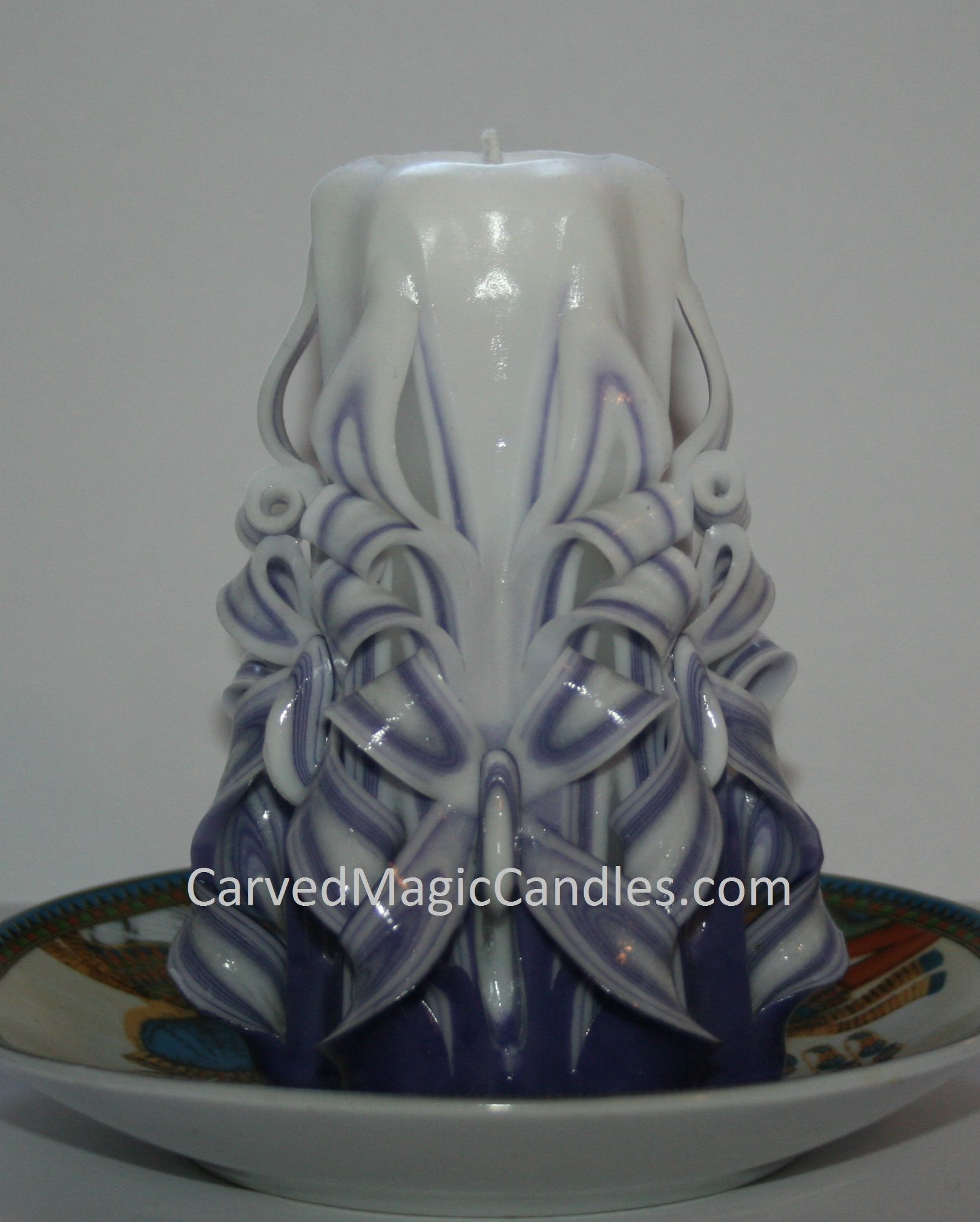 Handmade carved candles