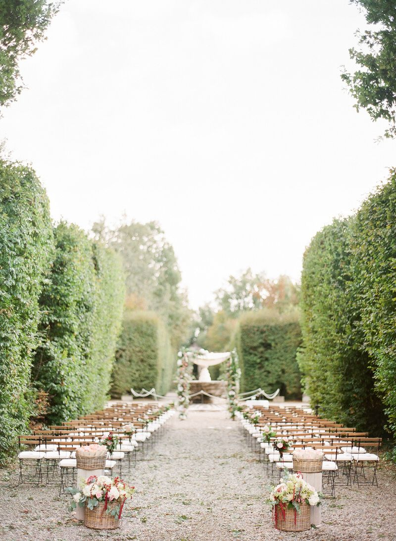 Outdoor ceremony at Villa Arconati Wedding locations