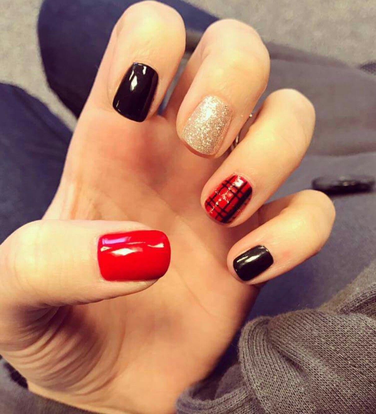 Pin by Amanda Hayes on nails   Pinterest   Plaid nails, Hair makeup ...
