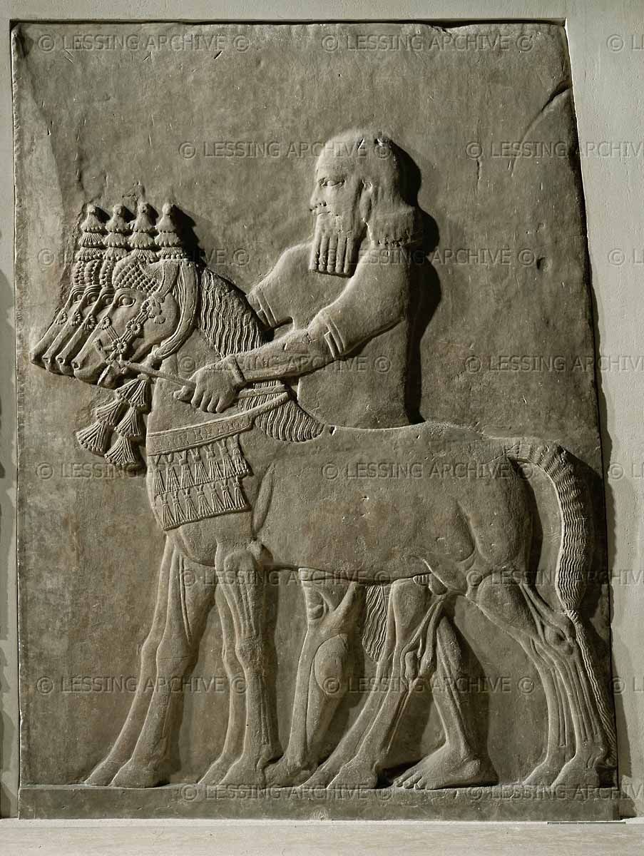 Alabaster bas relief th bce from the palace of sargon