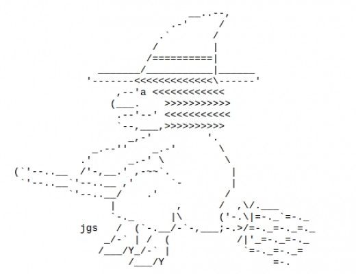 One Line Ascii Art Shark : Happy halloween ascii art for facebook