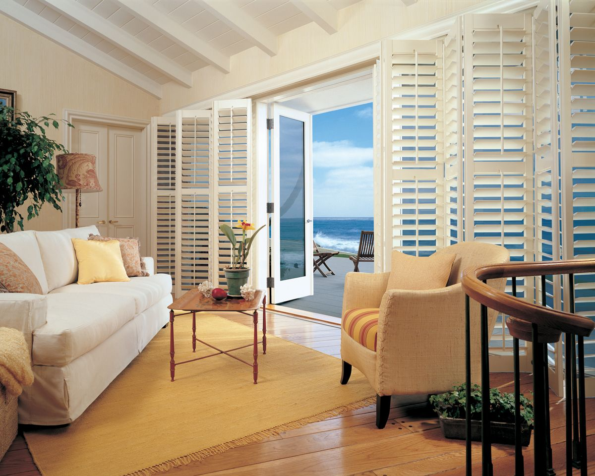 Love The Wall Of Bi Fold Floor To Ceiling Shutters To The