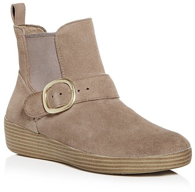 e5c69a5f68b5 FitFlop Women s Superbuckle Suede Chelsea Booties