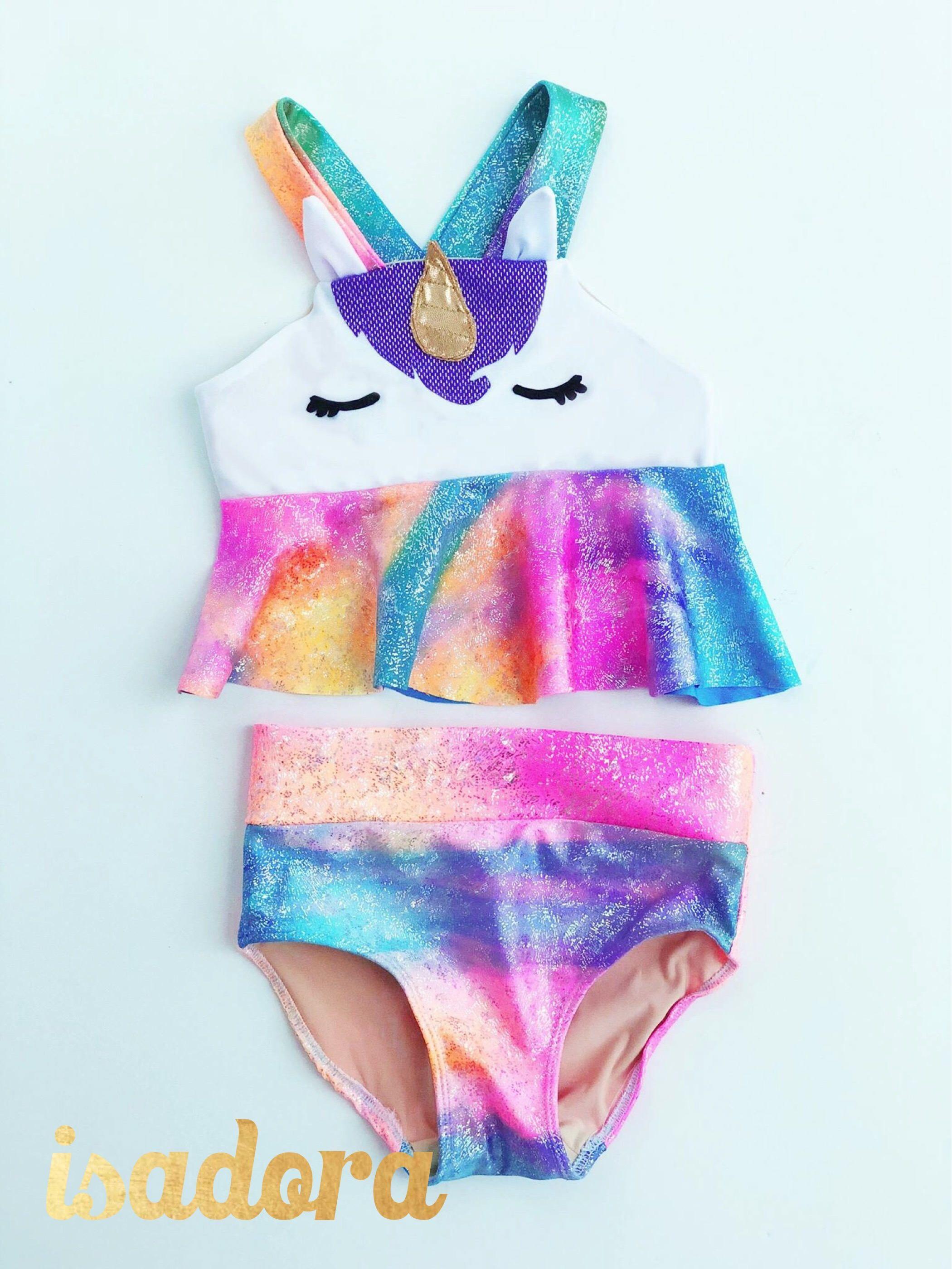15dd0c65f20be Girls Delux Unicorn Swim Suit by ISADORAKIDS on Etsy https://www.etsy