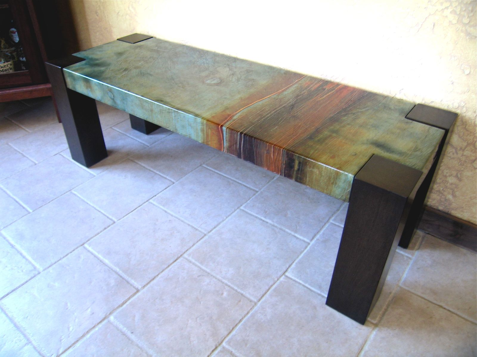 Custom Made Blender Art Bench Or Table By Brushaber Wood Design Woodworking Furniture Custom Benches Decor