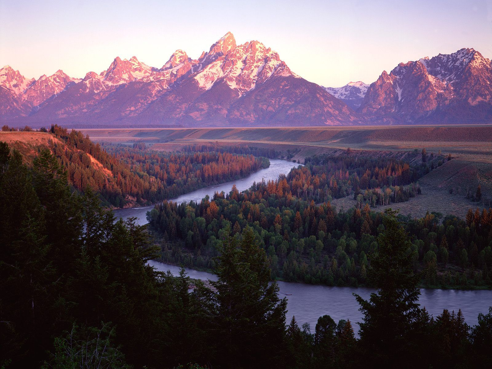 Grand Teton Range And The Snake River In Wyoming  I Hve
