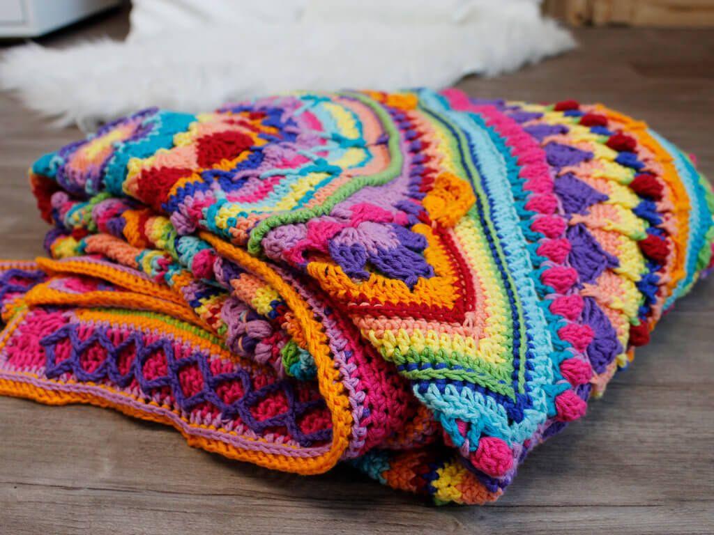 Crochet along - Teil 7 | Decke häkeln anleitung, Decke ...