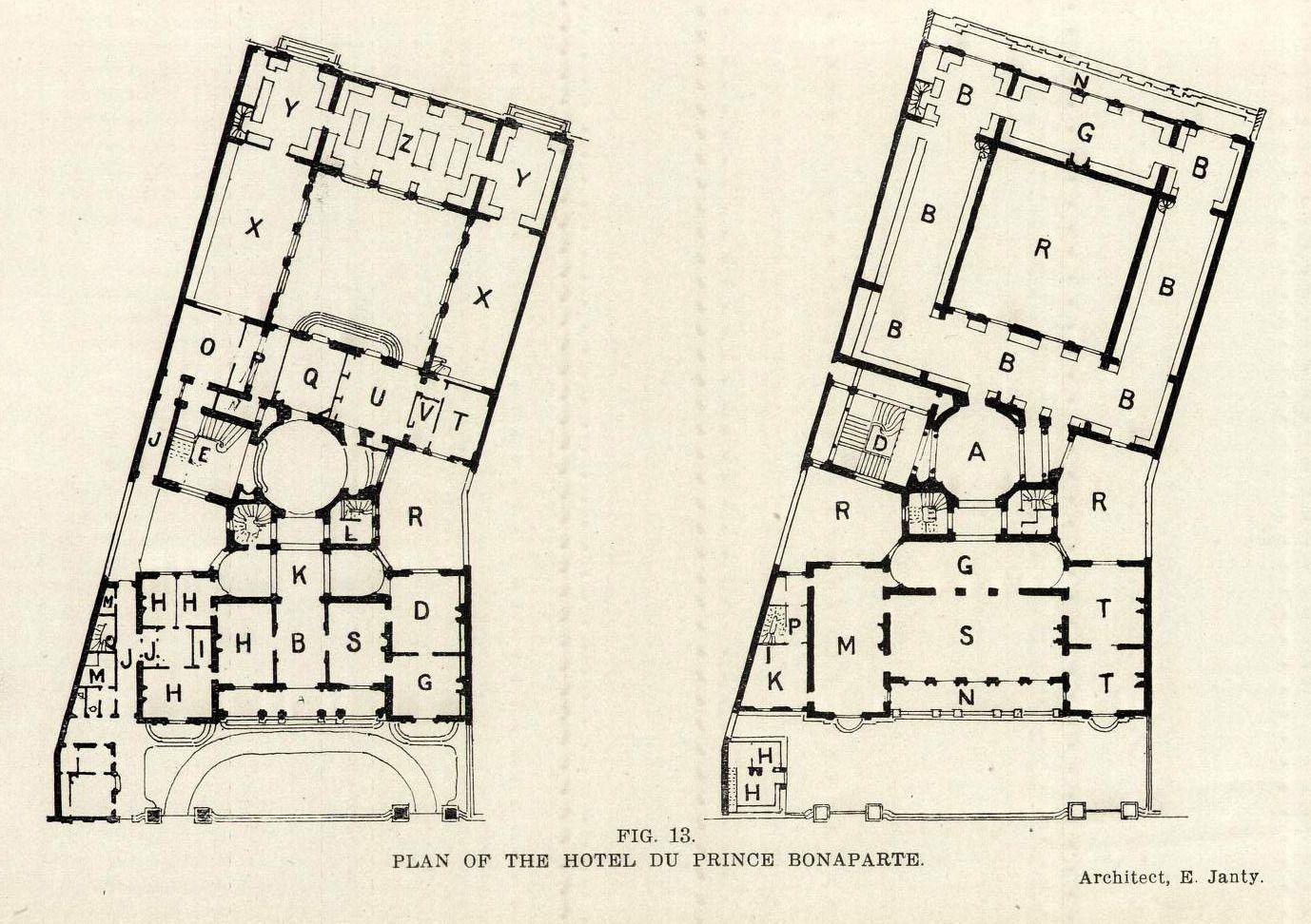 the floor plans of the hotel du prince bonaparte paris the floor plans of the hotel du prince bonaparte paris