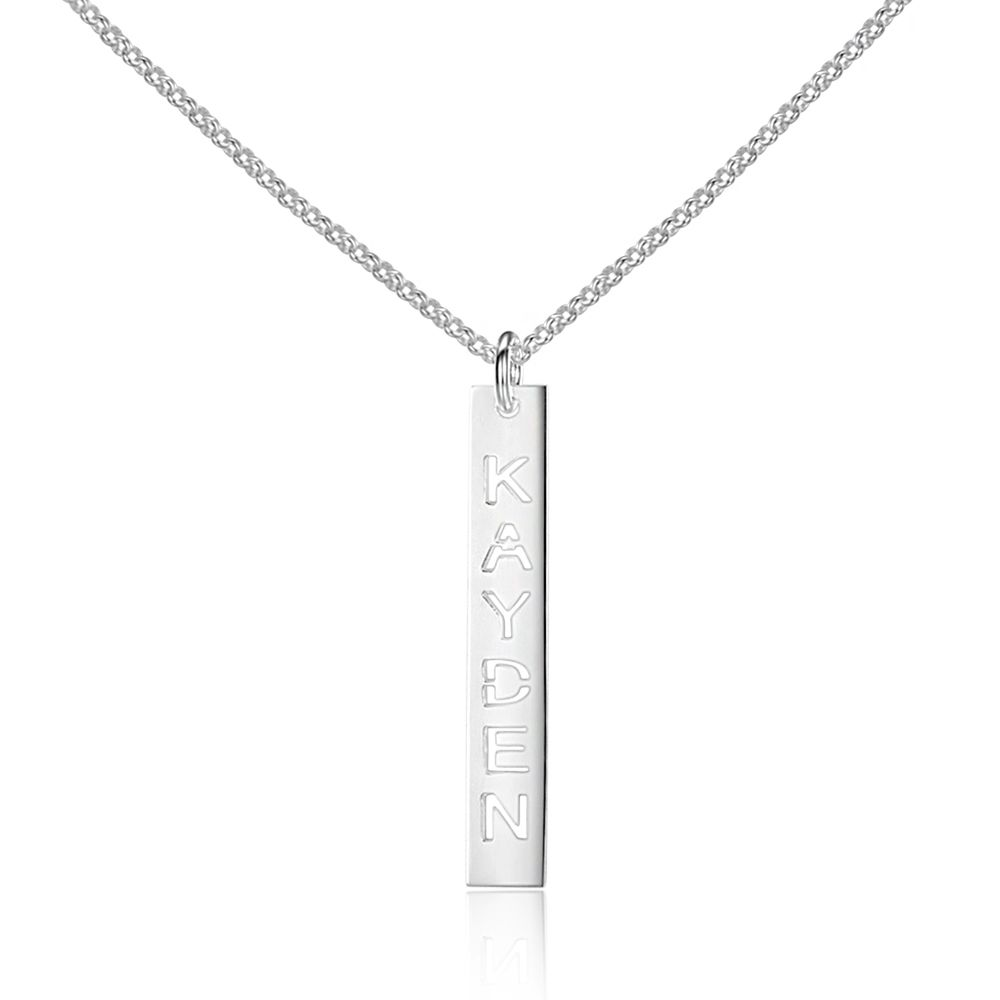 Personalized trendy hollow name engrave 925 sterling silver necklace personalized trendy hollow name engrave 925 sterling silver necklace pendants jewelry link chain 3 colors aloadofball Gallery