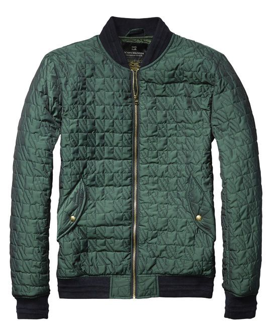 Quilted Nylon Bomber Jacket Scotch And Soda Mens Shopping Cart